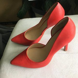"Ana ""Claire"" red high heel pumps"